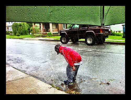 grownups hate the rain because we forget how to do this.