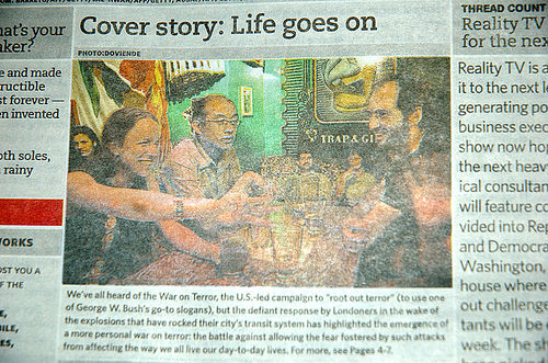 Photo published in paper