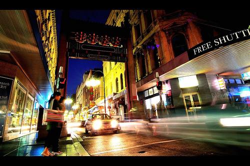 chinatown rush urban photography