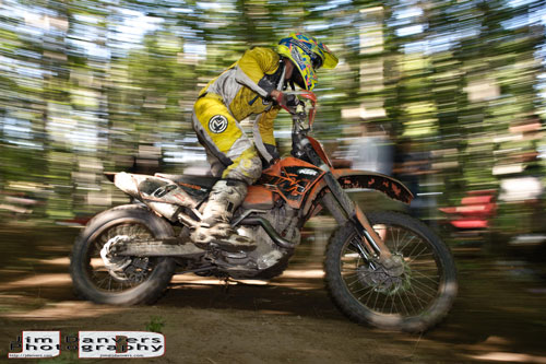 Motocross action photo where flash was used