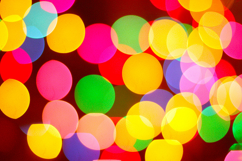 Colored Bokeh - if you purposefully want an image to be out of focus, then manual focus makes it easy