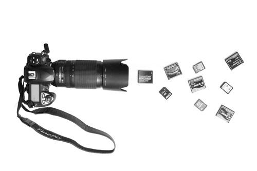Camera firing memory cards