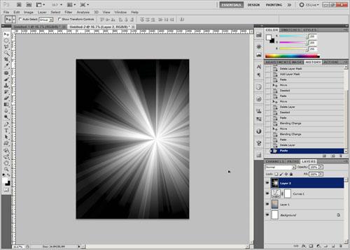 Add sunburst to poster document
