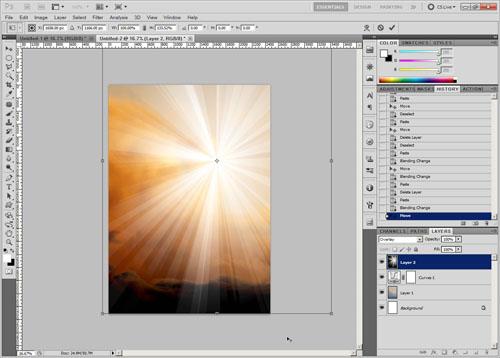 Resize sunburst layer