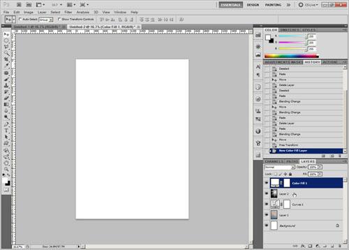 Add white fill layer