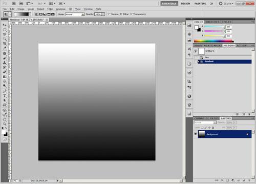 White to black gradient