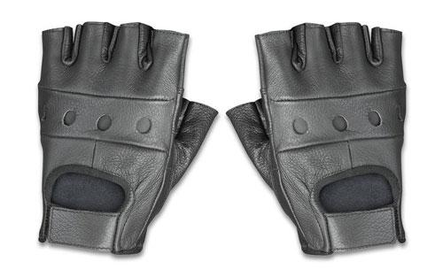 Fingerless grippy gloves