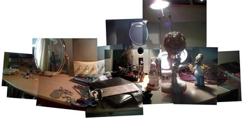 Macro desktop panography photo montage
