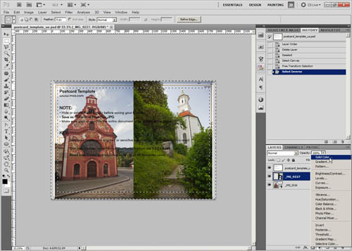 Creating a color fill layer to use for the white border