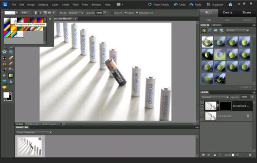 Gradient picker in Photoshop Elements