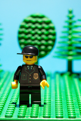 Photo of lego minifig taken using a large depth of field