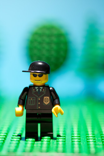 Photo of lego minifig taken using a shallow depth of field