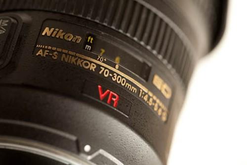 Name area on an AF-S VR Zoom-Nikkor 70-300mm f/4.5 - 5.6G IF-ED lens