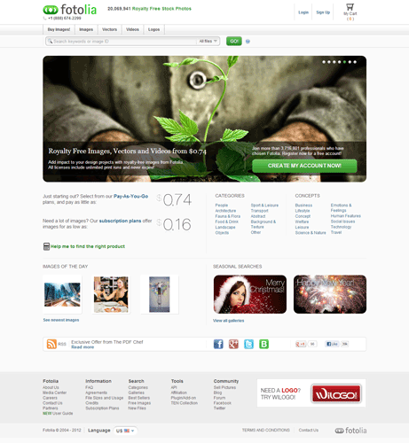 Fotolia Stock Photography website