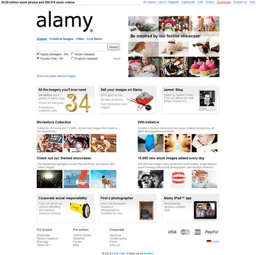 Alamy Stock Photography website