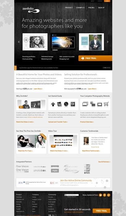 Zenfolio photography website