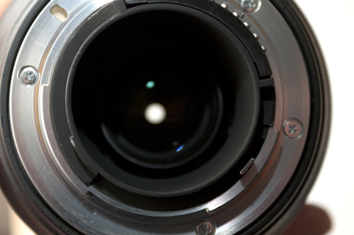 Nikon G type lenses do not have an aperture ring and the aperture automatically stops down fully when not mounted on the camera normally.