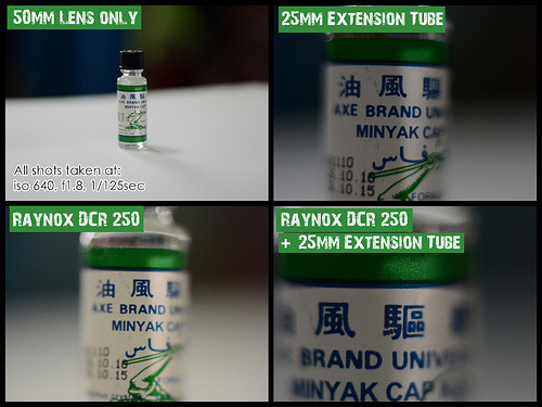 Raynox vs Extension Tube on 50mm Lens