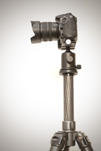 Tripod with center column extended