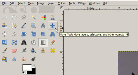 Move tool in GIMP's tools palette