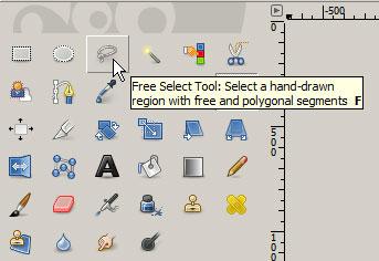 Lasso tool in GIMP's tool palette
