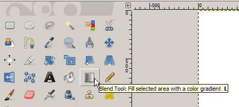 Gradient tool in GIMP's tool palette