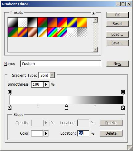 Gradient options in Photoshop