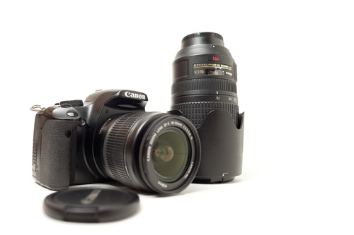 Camera and two lens kit