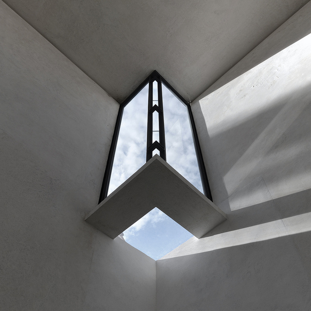 carlo scarpa, architect: gipsoteca del canova, extension of the canova museum in possagno, italy 1955-1957. detail, corner skylight