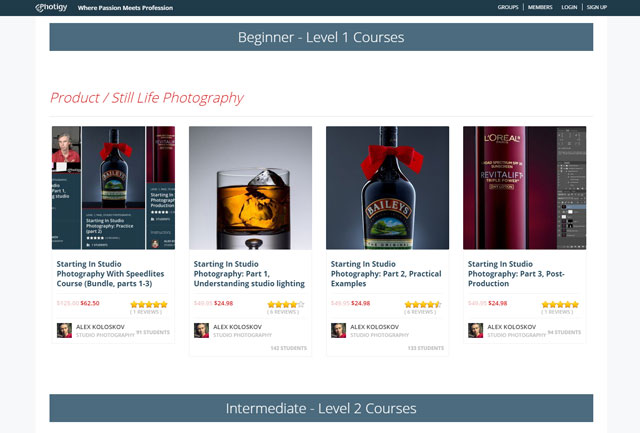 Photigy Black Friday / Cyber Monday special offers on product photography courses