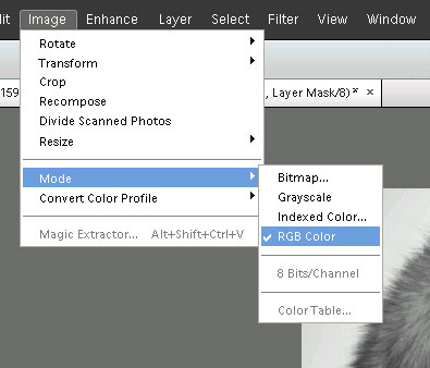 Checking / setting the color mode to RGB