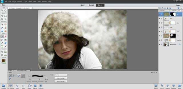 Image after adding mask to background colorization layer
