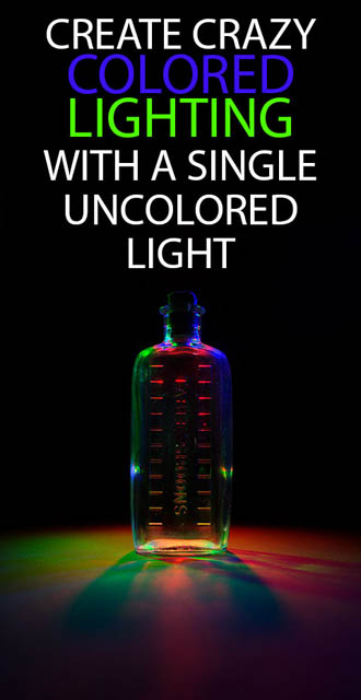 Create crazy colored lighting with a single uncolored light