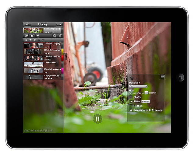 gallery app for iPad for displaying photography portfolio