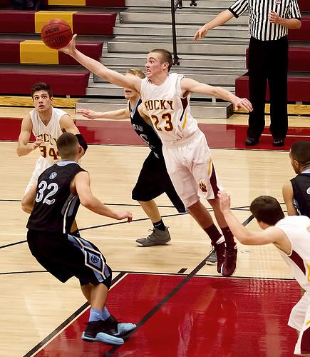 Basketball match, cropped photo