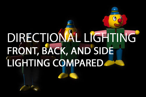 Directional lighting - Front, Back, and Side lighting compared