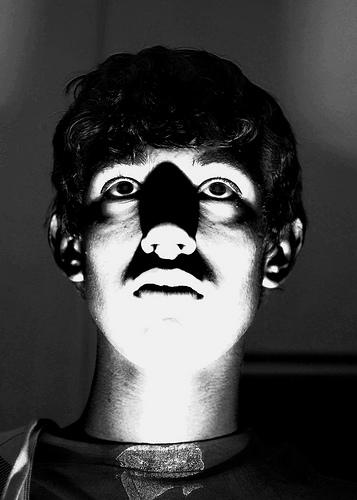 Spooky / Eerie portrait photo lit from below