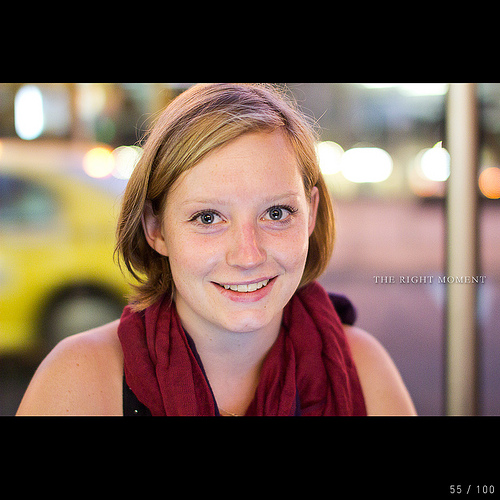 Front lit portrait photo