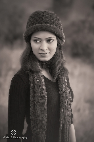 Portrait photo taken on a misty morning