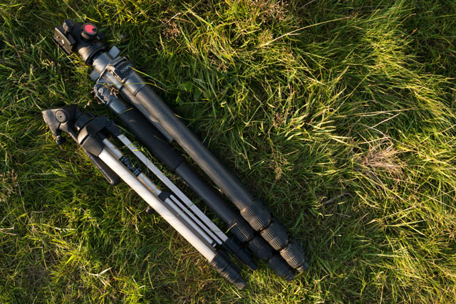 Cheap smaller tripod compared to larger standard tripod when collapsed