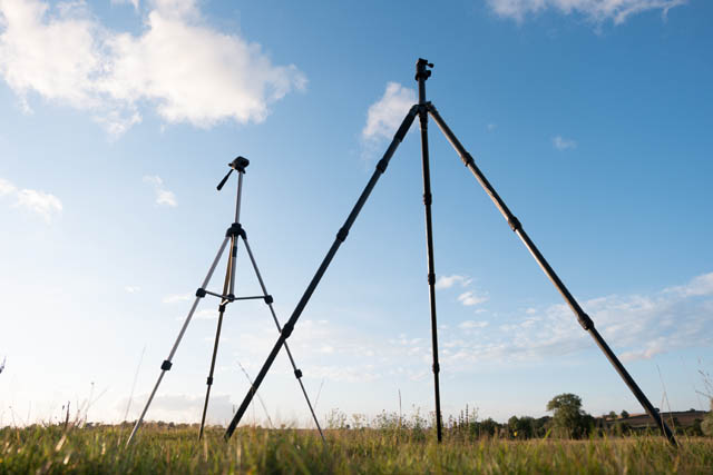 Cheap smaller tripod compared to standard tripod when fully extended