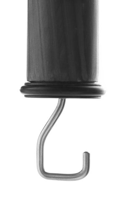 Weight hook at the bottom of a tripod's center column