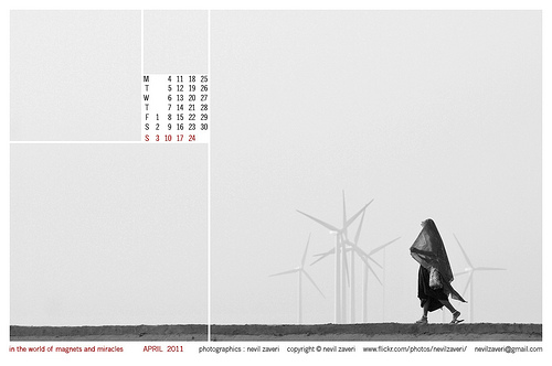 in the world of magnets and miracles - wallpaper calendar for april 2011