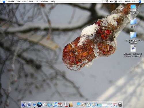 iBook desktop - using your own photo as a Desktop background