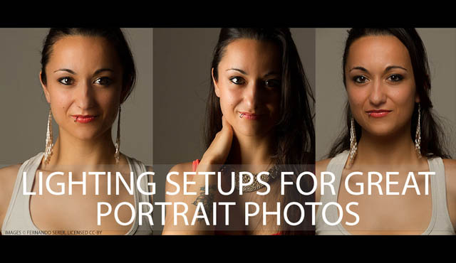 Lighting setups for great portrait photos