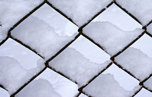 Snowy fence pattern