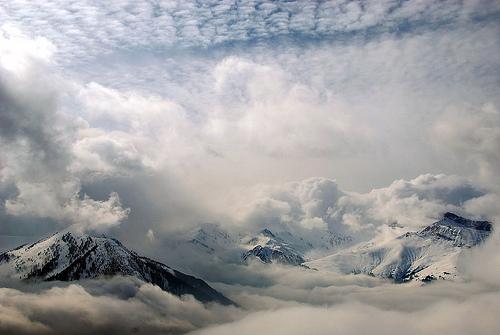 mountains in clouds || Berge in den Wolken