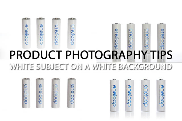 Product Photography Tips - White subject on a white background