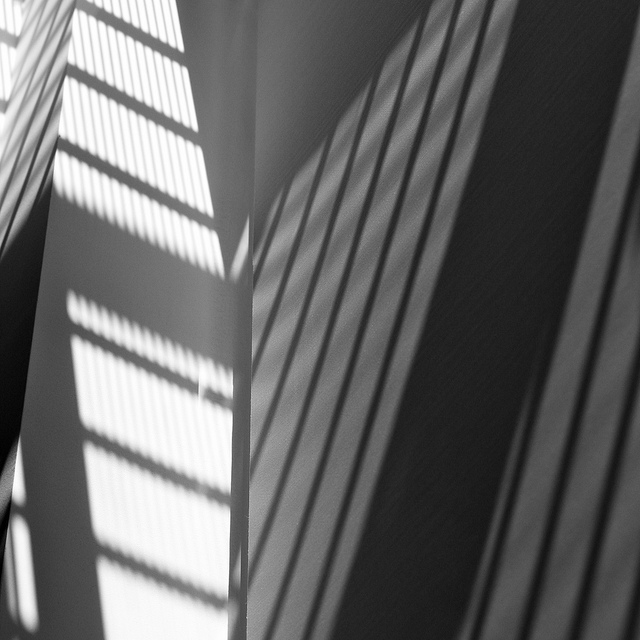 Abstract black & white photograph of shadows at the Chicago Museum of Art