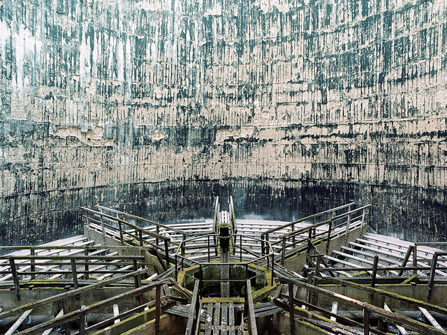 Disused cooling tower interior